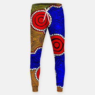 Circles and Dots - Authentic Aboriginal Art Sweatpants thumbnail image