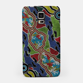 Thumbnail image of Walking the Land - Authentic Aboriginal Art Samsung Case, Live Heroes