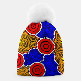 Circles and Dots - Authentic Aboriginal Art Beanie thumbnail image