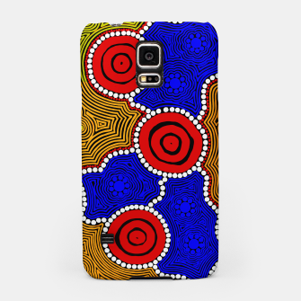Circles and Dots - Authentic Aboriginal Art Samsung Case thumbnail image