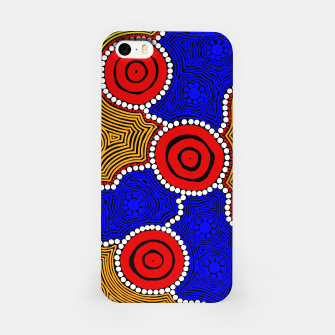 Circles and Dots - Authentic Aboriginal Art iPhone Case thumbnail image