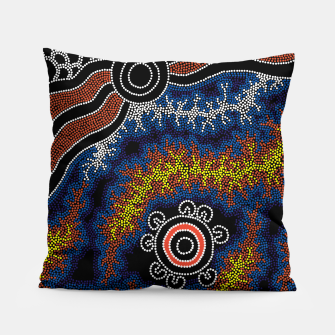 The Heart of Fire - Authentic Aboriginal Art Pillow thumbnail image