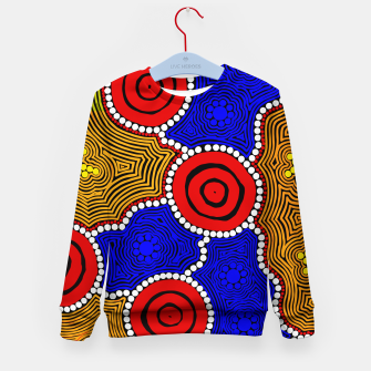 Circles and Dots - Authentic Aboriginal Art Kid's sweater thumbnail image