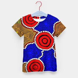 Circles and Dots - Authentic Aboriginal Art Kid's t-shirt thumbnail image