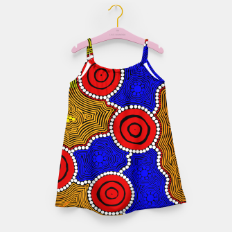 Circles and Dots - Authentic Aboriginal Art Girl's dress thumbnail image
