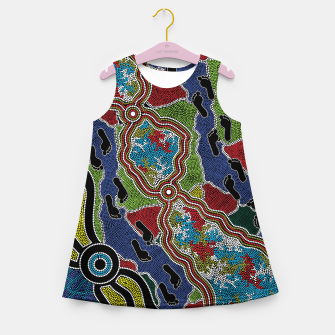 Thumbnail image of Walking the Land - Authentic Aboriginal Art Girl's summer dress, Live Heroes