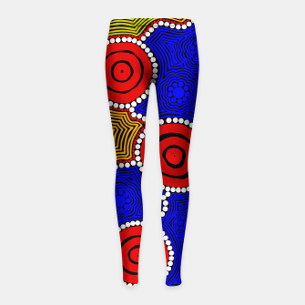 Circles and Dots - Authentic Aboriginal Art Girl's leggings thumbnail image