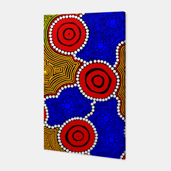 Thumbnail image of Circles and Dots - Authentic Aboriginal Art Canvas, Live Heroes