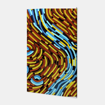Thumbnail image of The River - Authentic Aboriginal Art Canvas, Live Heroes