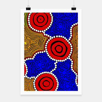Thumbnail image of Circles and Dots - Authentic Aboriginal Art Poster, Live Heroes