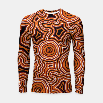 Thumbnail image of Pathways - Authentic Aboriginal Art Longsleeve rashguard , Live Heroes