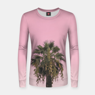 Palm tree and pink sky Women sweater thumbnail image