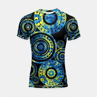 Thumbnail image of Circle Paisley - Authentic Aboriginal Art Shortsleeve rashguard, Live Heroes