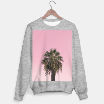 Palm tree and pink sky Sweater regular thumbnail image