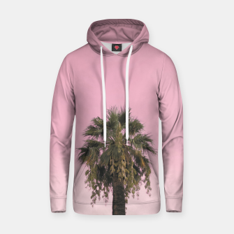 Palm tree and pink sky Hoodie thumbnail image