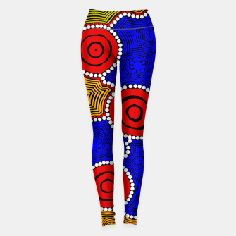 Thumbnail image of Circles and Dots - Authentic Aboriginal Art Leggings, Live Heroes