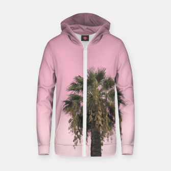 Palm tree and pink sky Zip up hoodie thumbnail image