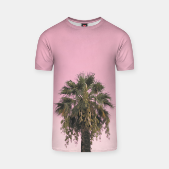 Palm tree and pink sky T-shirt thumbnail image