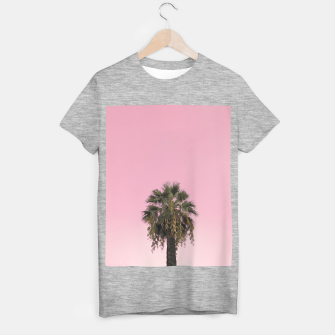 Thumbnail image of Palm tree and pink sky T-shirt regular, Live Heroes