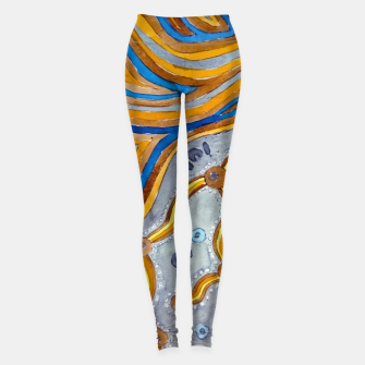 Thumbnail image of Lines - Authentic Aboriginal Art Leggings, Live Heroes