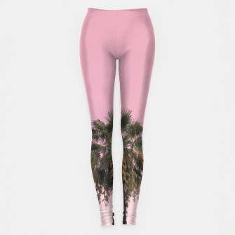 Palm tree and pink sky Leggings thumbnail image