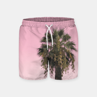Palm tree and pink sky Swim Shorts thumbnail image