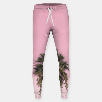Palm tree and pink sky Sweatpants thumbnail image
