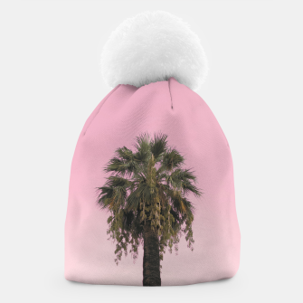 Palm tree and pink sky Beanie thumbnail image
