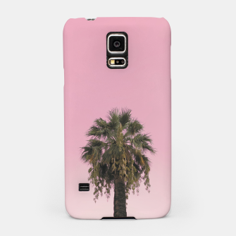 Palm tree and pink sky Samsung Case thumbnail image