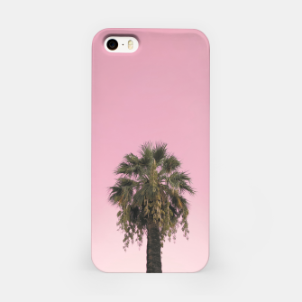 Palm tree and pink sky iPhone Case thumbnail image