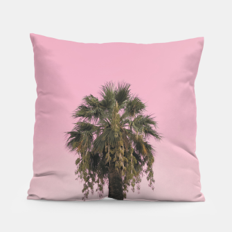 Palm tree and pink sky Pillow thumbnail image