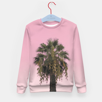 Palm tree and pink sky Kid's sweater thumbnail image