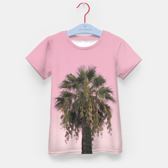 Palm tree and pink sky Kid's t-shirt thumbnail image