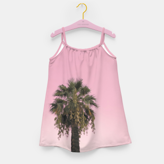 Palm tree and pink sky Girl's dress thumbnail image