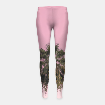 Palm tree and pink sky Girl's leggings thumbnail image