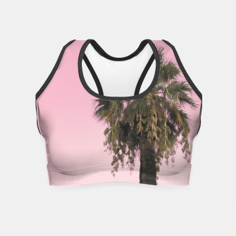 Palm tree and pink sky Crop Top thumbnail image