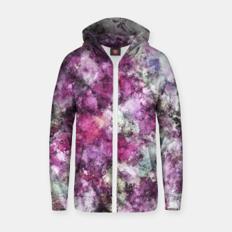Thumbnail image of The quiet purple clouds Zip up hoodie, Live Heroes