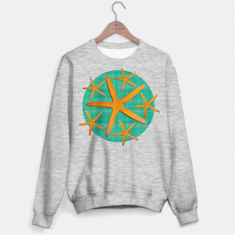 "Miniaturka ""Starfish in Turquoise and Mustard II"" Sudadera regular, Live Heroes"