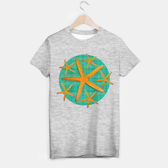 "Thumbnail image of ""Starfish in Turquoise and Mustard II"" Camiseta Regular, Live Heroes"