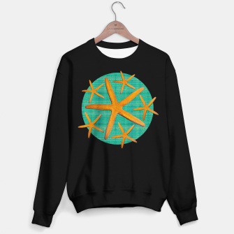 "Thumbnail image of ""Starfish in Turquoise and Mustard II"" Sudadera regular, Live Heroes"