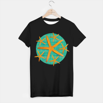 "Miniaturka ""Starfish in Turquoise and Mustard II"" Camiseta Regular, Live Heroes"