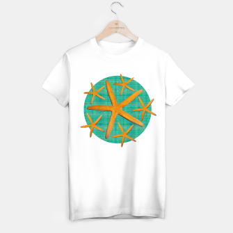 "Imagen en miniatura de ""Starfish in Turquoise and Mustard II"" Camiseta Regular, Live Heroes"