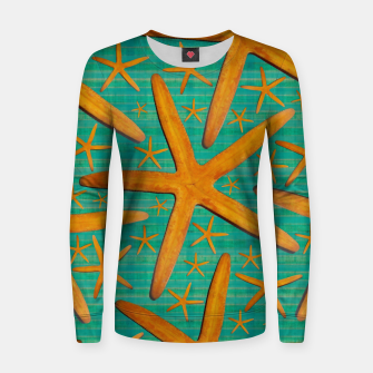 "Imagen en miniatura de ""Starfish in Turquoise and Mustard"" Sudadera para mujeres, Live Heroes"