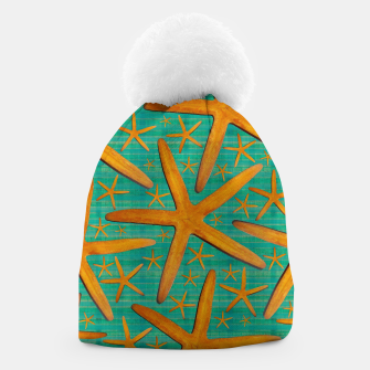 "Thumbnail image of ""Starfish in Turquoise and Mustard"" Gorro, Live Heroes"