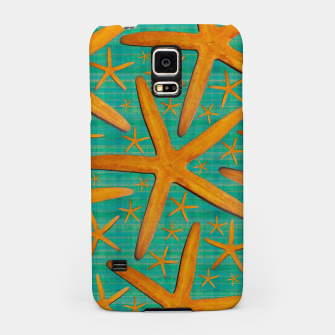 "Thumbnail image of ""Starfish in Turquoise and Mustard"" Carcasa por Samsung, Live Heroes"