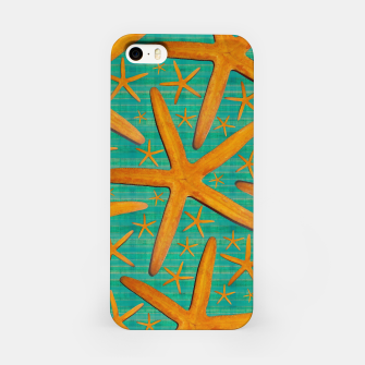 "Thumbnail image of ""Starfish in Turquoise and Mustard"" Carcasa por Iphone, Live Heroes"