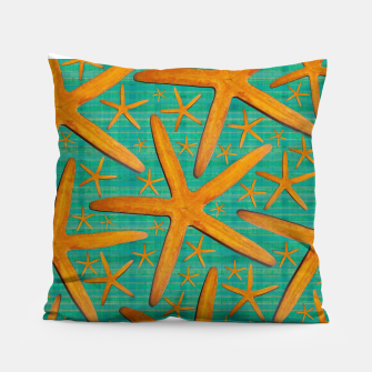 "Thumbnail image of ""Starfish in Turquoise and Mustard"" Almohada, Live Heroes"