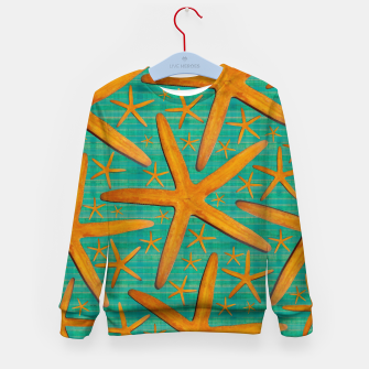 "Thumbnail image of ""Starfish in Turquoise and Mustard"" Sudadera para niños, Live Heroes"