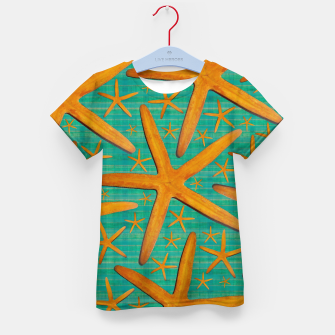 "Thumbnail image of ""Starfish in Turquoise and Mustard"" Camiseta para niños, Live Heroes"