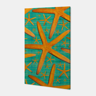 "Thumbnail image of ""Starfish in Turquoise and Mustard"" Canvas, Live Heroes"